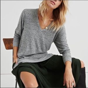 Lucky Brand Sweater Long Sleeve Tunic Top Gray NEW